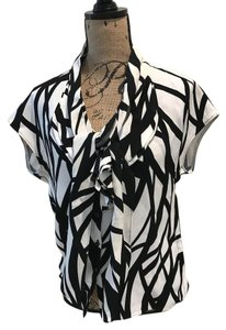 Escada Top Black and White