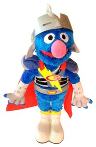 Sesame Street Animated Talks Sings 2011 Sesame Street Flying Super Grover Hasbro 15