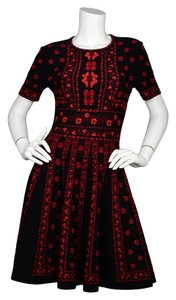 Alexander McQueen short dress Black and red on Tradesy