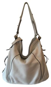 B. Makowsky Silver Hardware Leather Multi-compartments Hobo Shoulder Bag
