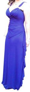 Betsy & Adam Floor Length Prom Or Formal Rhinestones On Strap Chiffon Overlay Dress