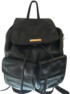 DKNY Multi-compartments Drawstring Leather Backpack