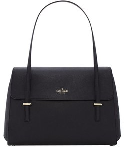 Kate Spade Likenew Cedarstreetluciana Leather Satchel in Black