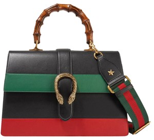 Gucci Dionysus Gg Bamboo Large Tote in Black, green and red