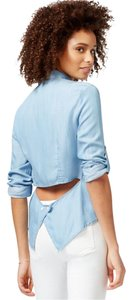 Rachel Roy Button Down Shirt Blue