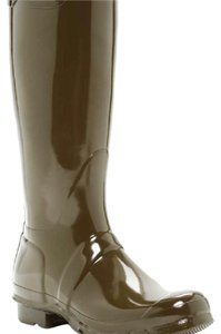 Hunter Swamp Green Glossy Boots