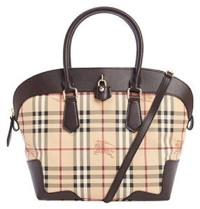 Burberry Pvc Leather Tote in Chocolate