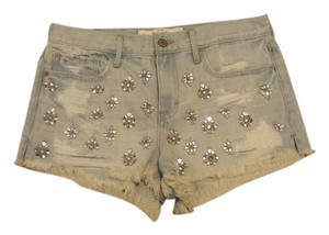 Abercrombie & Fitch Cut Off Shorts Light Wash
