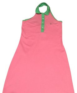 Lacoste short dress pink green on Tradesy