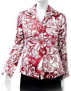 Lafayette 148 New York Spring red white floral Jacket