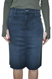 Mother Denim Pencil Skirt Blue
