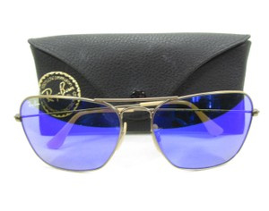 Ray-Ban Unisex Aviator Sunglasses Style RB 3136, Blue Mirrored Lens