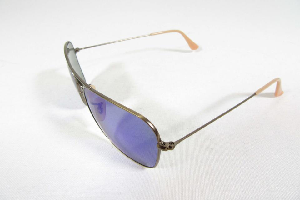 c87ba2d248 Ray-ban Gold Aviator Sunglasses With Blue Mirrored Lenses