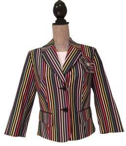 Other Black Multi-Colored Striped Jacket