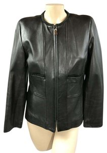 Doncaster black Leather Jacket