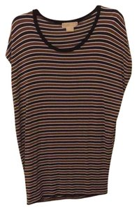 Michael Kors T Shirt Navy, brown and white