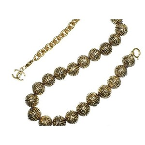 Chanel Vintage Gold-Tone Etched Ball Choker