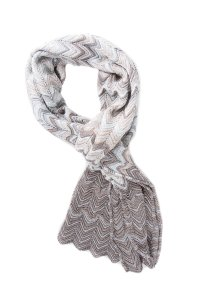 Missoni Light Weight Grey Knit Scarf