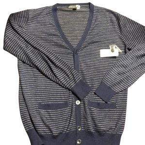 Saks Fifth Avenue Button Down Shirt Gray and navy