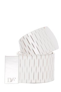 Diane von Furstenberg Diane Von Furstenberg White Wide Leather Belt