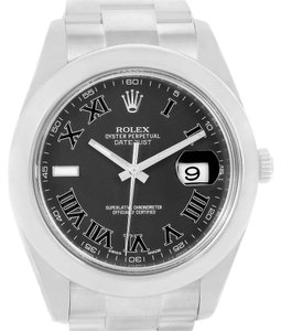 Rolex Rolex Datejust II Grey Roman Dial Mens Steel Watch 116300
