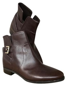 Michael Kors Leather Ankle Salem Brown Boots