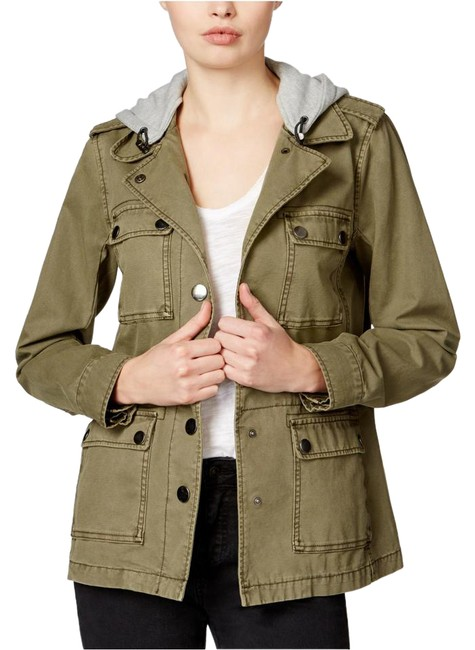 Rachel Roy Army Green Hooded Top Jacket Size 2 (XS) Rachel Roy Army Green Hooded Top Jacket Size 2 (XS) Image 1