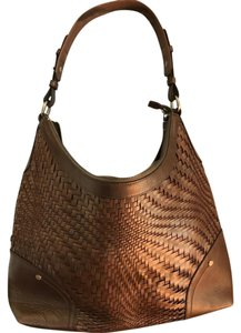 Cole Haan Leather Weave Metallics Hobo Bag