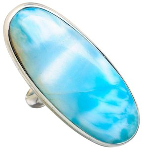 Other Huge Larimar 925 Sterling Silver Ring Size 7