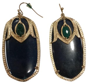 Kendra Scott dark blue stone with metallic shimmer and green small stone
