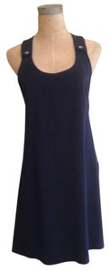 Ann Taylor short dress Navy Blue on Tradesy