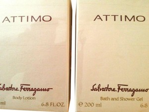 Salvatore Ferragamo NEW Sealed SALVATORE FERRAGAMO ATTIMO BODY LOTION & Bath Gel 6.8 oz