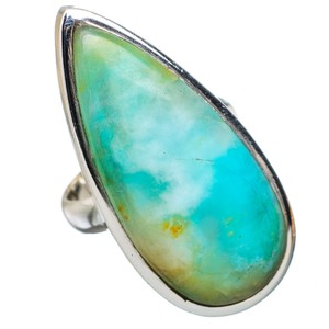 Other Large Peruvian Opal 925 Sterling Silver Ring Size 6