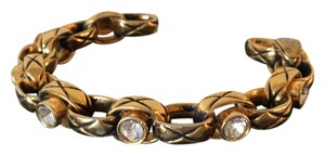 Chanel SALE - CHANEL RARE VINTAGE 1984 GOLD PLATED CRYSTAL BRACELET