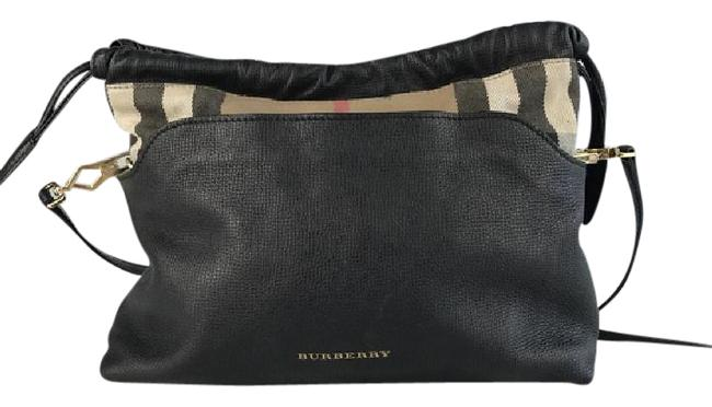 Item - Little Crush House Check and Black Canvas Leather Shoulder Bag