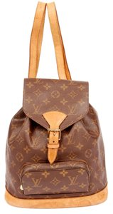 Louis Vuitton Canvas Montsouris Weekend Travel Leather Backpack