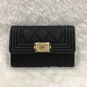 Chanel Chanel quilted boy card holder