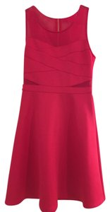 Guess Mesh Cut-out A-line Prom Dress