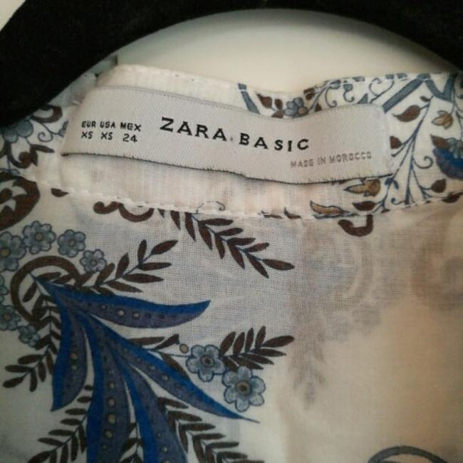 Zara Top blue and white Image 3
