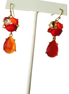 Alexis Bittar Faceted Carnelian, Coral & Swarovski Crystal Earrings