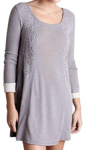 Anthropologie short dress Grey Soft Thermal Cozy + Warm Lived In Lace Feminine on Tradesy