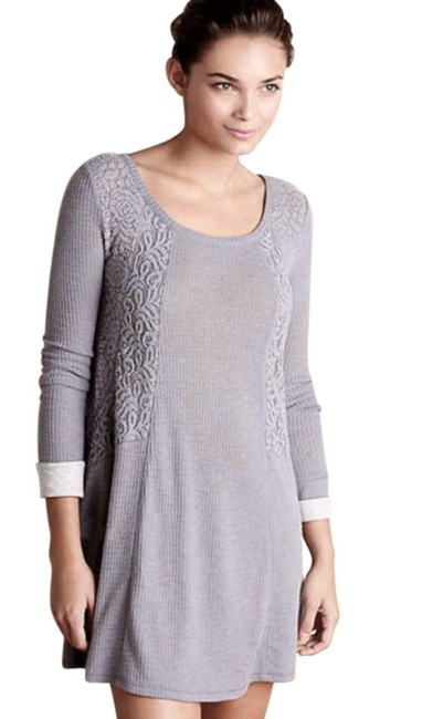 Anthropologie short dress Grey Soft Thermal Cozy + Warm Lived In Lace Feminine on Tradesy Image 3