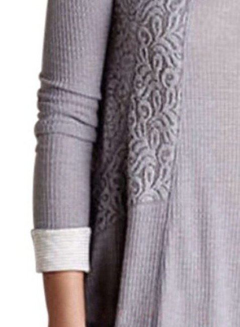 Anthropologie short dress Grey Soft Thermal Cozy + Warm Lived In Lace Feminine on Tradesy Image 4