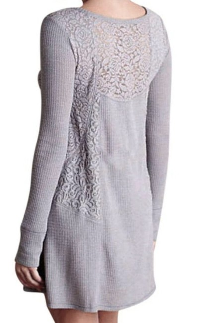 Anthropologie short dress Grey Soft Thermal Cozy + Warm Lived In Lace Feminine on Tradesy Image 6