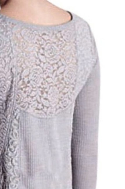 Anthropologie short dress Grey Soft Thermal Cozy + Warm Lived In Lace Feminine on Tradesy Image 7
