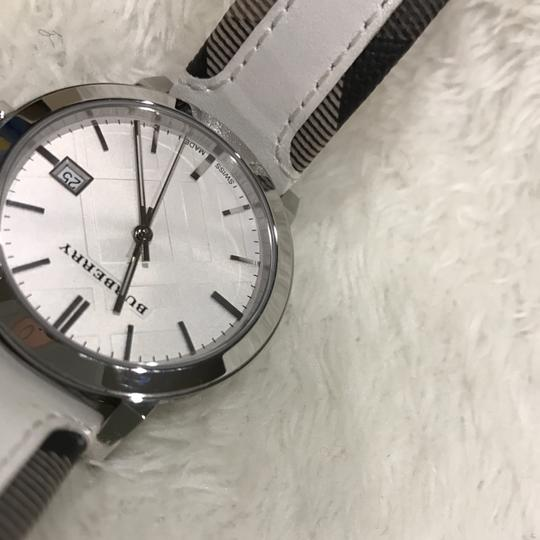 Burberry Swiss the city Haymarket check leather strap watch Image 3