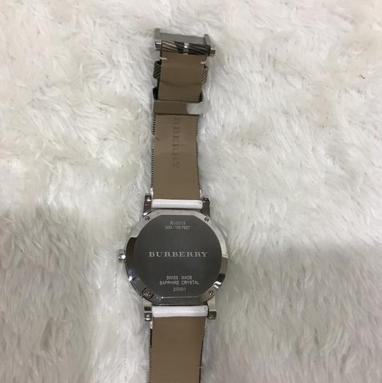 Burberry Swiss the city Haymarket check leather strap watch Image 6