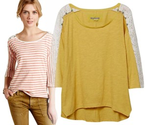 Anthropologie Cheerful T Shirt Yellow
