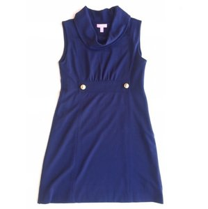 Lilly Pulitzer Cowl Neck Cowl Sleeveless Tank Cocktail Dress