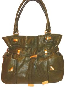 B. Makowsky Refurbished X-lg Leather Lined Hobo Bag
